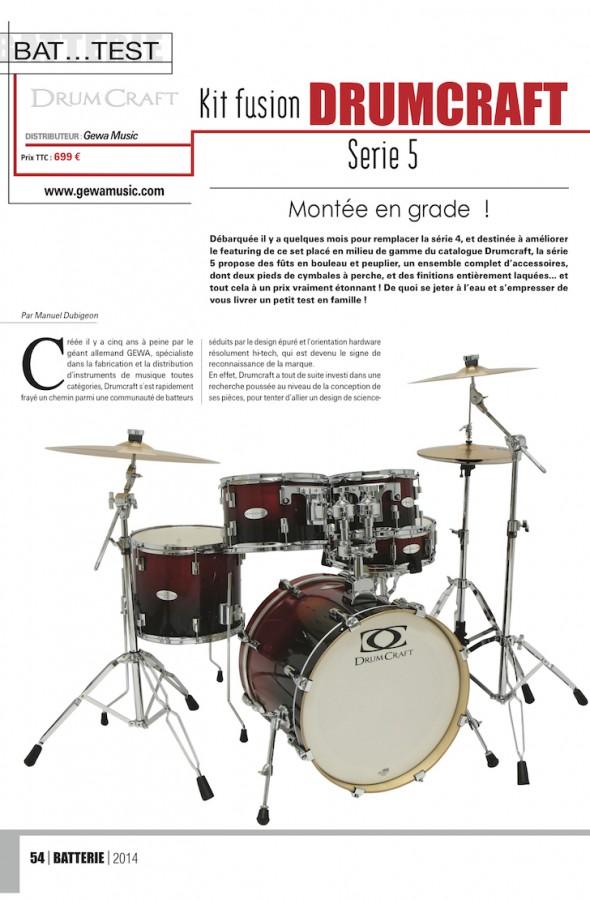 Série 5 DrumCraft – Batterie Magazine n°108