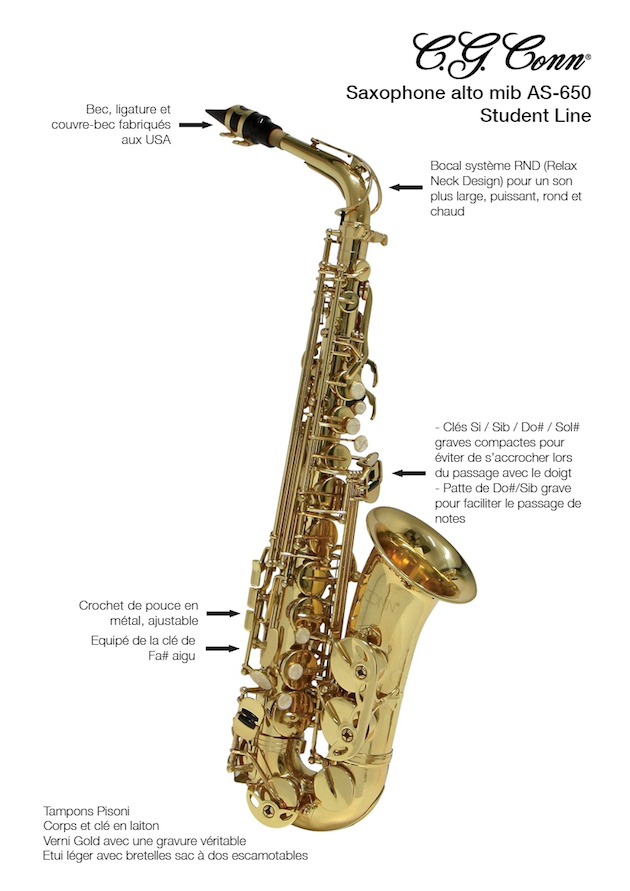 Conn-AS650-Saxophone-Fiche-Technique-GEWAmusic