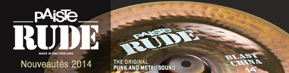 Cymbales Paiste RUDE Basher, Shred Bell et Blast China