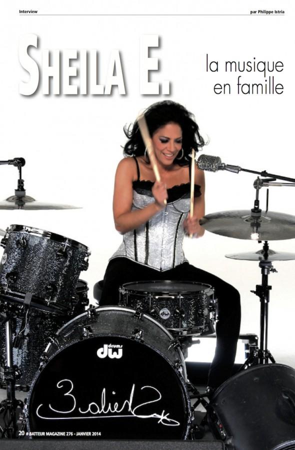 Sheila E. – Batteur Magazine n°276
