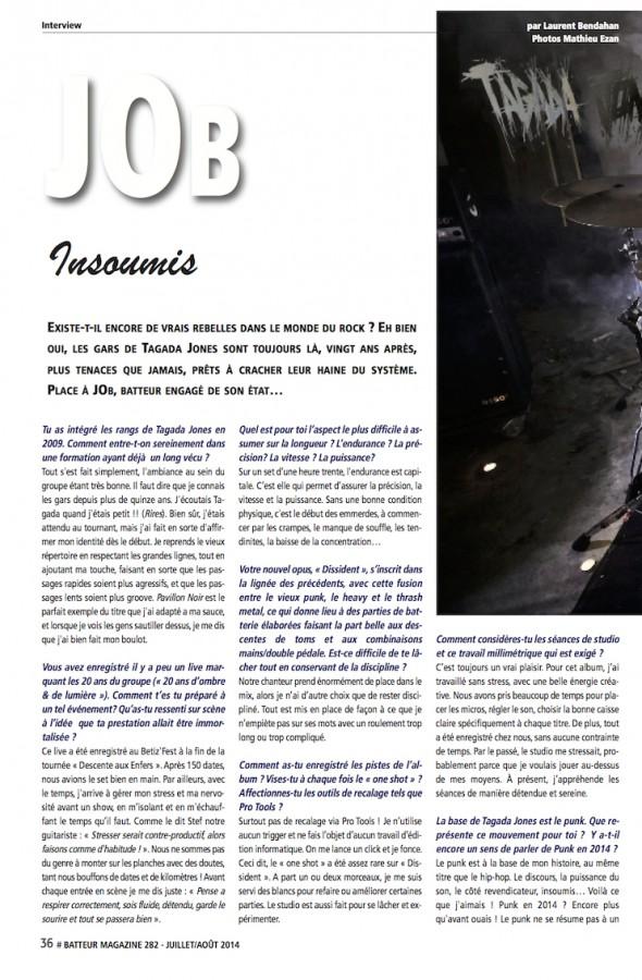 JOb – Batteur Magazine n°282
