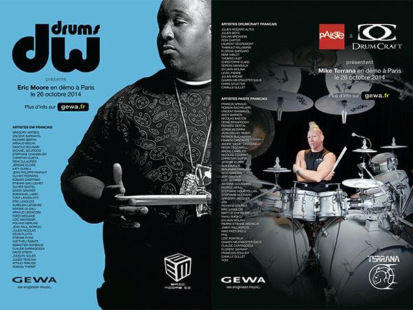 Eric Moore / Mike Terrana - Bag Show 2014 - GEWA music