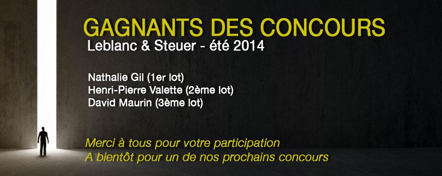 Résultat Concours Leblanc Steuer 2014