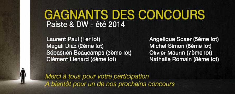 Résultat Concours Paiste DW 2014