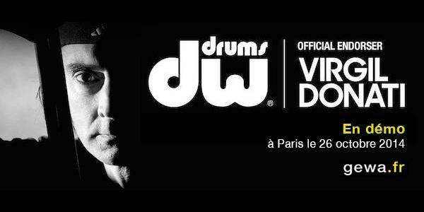 Virgil Donati - Batteries DW - Bag Show 2014 Paris - GEWA music