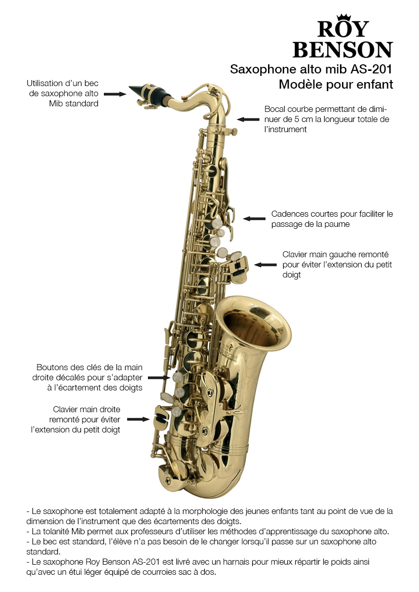 RoyBenson-AS201-Saxophone-Fiche-Technique-GEWAmusic