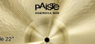 Cymbales Paiste Formula 602 Medium Ride 22″