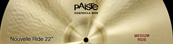 Cymbales Paiste Formula 602 Medium Ride 22″