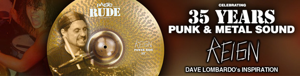 Cymbale Paiste RUDE Power Ride 22″ The Reign