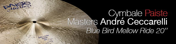 Cymbale Paiste Masters 20″ Mellow Ride Blue Bird André Ceccarelli