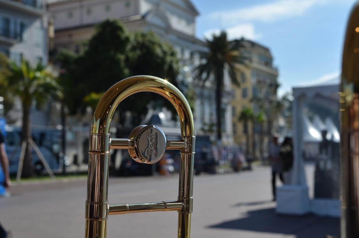 Escale Musicale à Nice et Thaine artiste trombone King